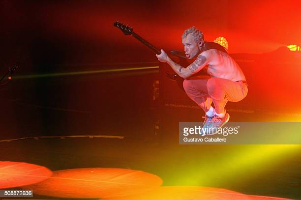 Recording artist Flea of Red Hot Chili Peppers performs onstage during DirecTV Super Saturday Night cohosted by Mark Cuban's AXS TV at Pier 70 on...