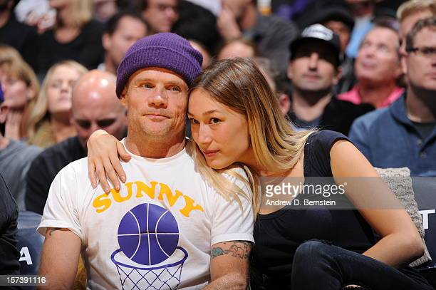 Recording artist Flea of the Red Hot Chili Peppers attends a game between the Orlando Magic and the Los Angeles Lakers at Staples Center on December...