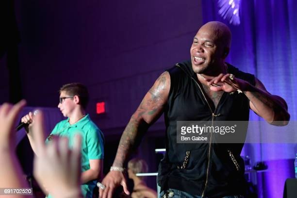 Recording artist Flo Rida performs on stage during the Greenwich International Film Festival Opening Night Party on June 2 2017 in Greenwich...