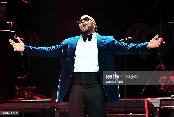Recording artist Flo Rida performs onstage during 1061 KISS FM's Jingle Ball 2013 at American Airlines Center on December 2 2013 in Dallas Texas