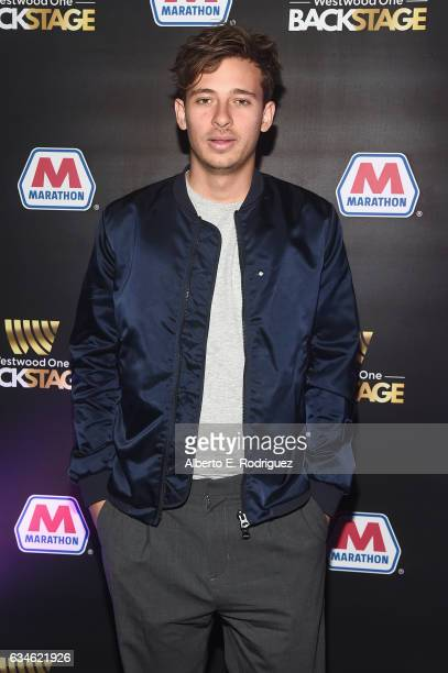 Recording artist Flume attends Backstage at The GRAMMYs Westwood One Radio Remotes during the 59th GRAMMY Awards at STAPLES Center on February 10...