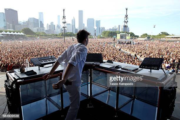 Recording artist Flume performs on the Samsung Stage at Lollapalooza 2016 - Day 4 at Grant Park on July 31, 2016 in Chicago, Illinois.