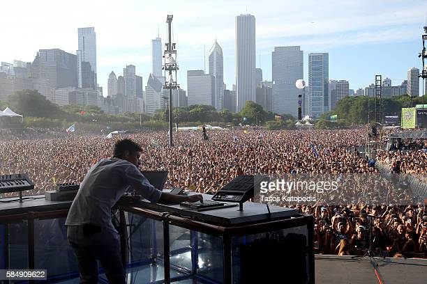 Recording artist Flume performs on the Samsung Stage at Lollapalooza 2016 Day 4 at Grant Park on July 31 2016 in Chicago Illinois