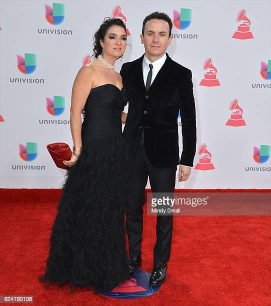 Recording artist Fonseca and Juliana Posada attend the 17th Annual Latin Grammy Awards at TMobile Arena on November 17 2016 in Las Vegas Nevada
