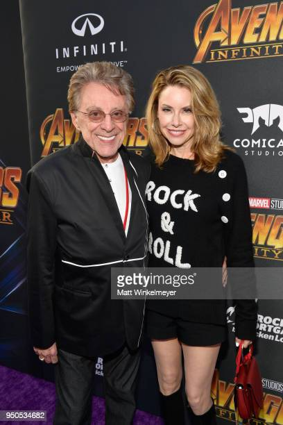 Recording artist Frankie Valli and Jacqueline Jacobs attend the Los Angeles Global Premiere for Marvel Studios' Avengers Infinity War on April 23...