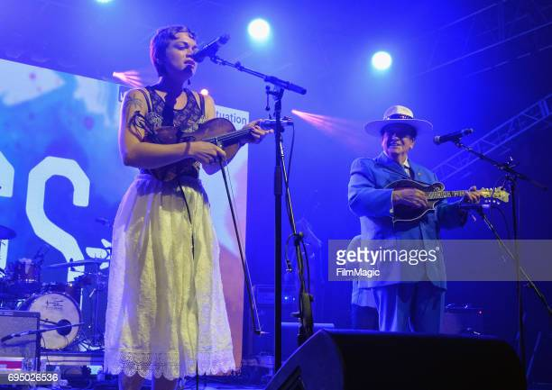 Recording artist Gaby Moreno performs onstage for 'The Bluegrass Situation Roots SuperJam' at That Tent during Day 4 of the 2017 Bonnaroo Arts And...