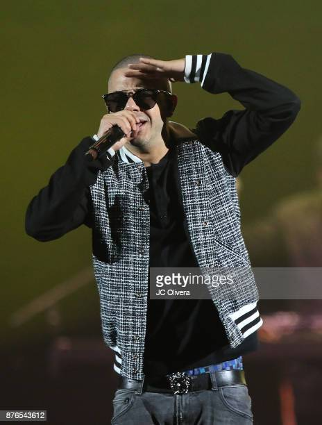 Recording artist Gadiel Veguilla performs onstage during Uforia's 'KLove Live' at The Forum on November 19 2017 in Inglewood California