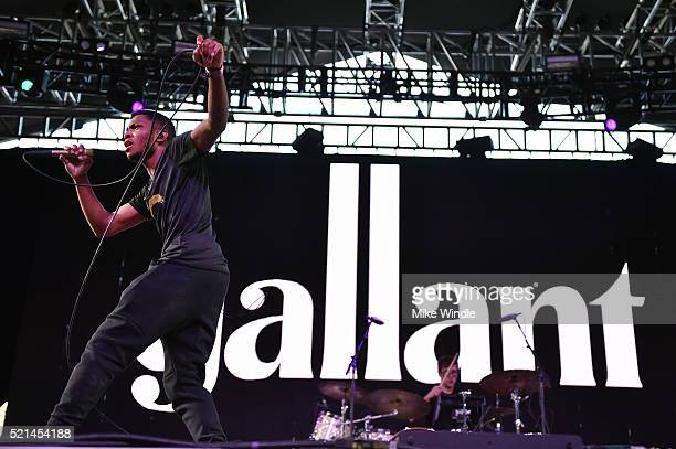 Recording artist Gallant performs onstage during day 1 of the 2016 Coachella Valley Music Arts Festival Weekend 1 at the Empire Polo Club on April 15...