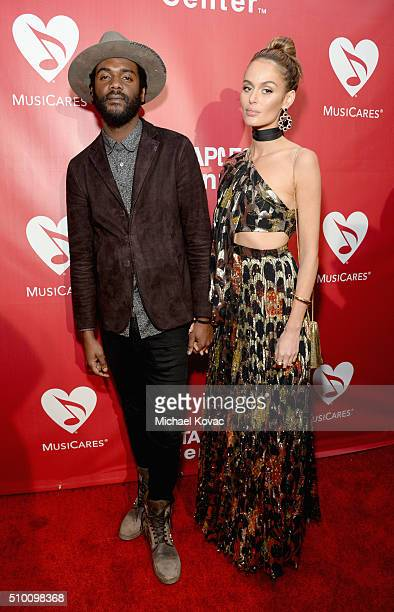 Recording artist Gary Clark Jr and model Nicole Trunfio attend the 2016 MusiCares Person of the Year honoring Lionel Richie at the Los Angeles...
