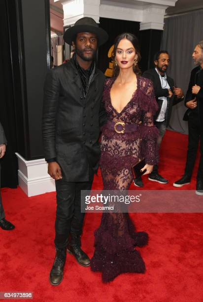Recording artist Gary Clark Jr and Nicole Trunfio at The 59th Annual GRAMMY Awards at STAPLES Center on February 12 2017 in Los Angeles California