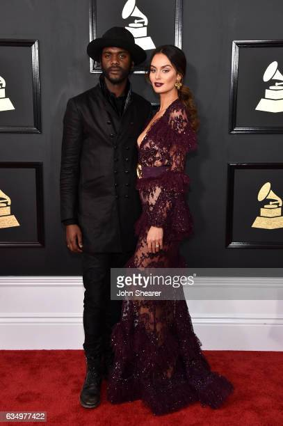 Recording artist Gary Clark Jr and Nicole Trunfio attend The 59th GRAMMY Awards at STAPLES Center on February 12 2017 in Los Angeles California