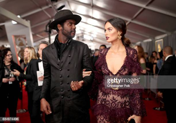 Recording artist Gary Clark Jr and Nicole Trunfio attends The 59th GRAMMY Awards at STAPLES Center on February 12 2017 in Los Angeles California
