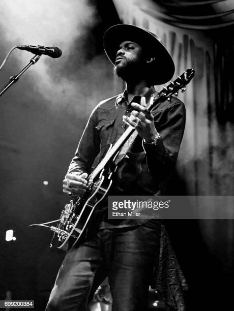 Recording artist Gary Clark Jr performs at Brooklyn Bowl Las Vegas on June 20 2017 in Las Vegas Nevada