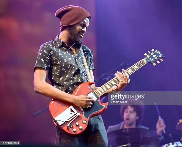 Recording artist Gary Clark Jr performs onstage during Rock in Rio USA at the MGM Resorts Festival Grounds on May 8 2015 in Las Vegas Nevada