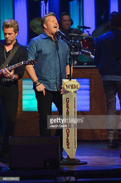 Recording Artist Gary LeVox of Rascal Flatts performs at The Grand Ole Opry on June 6 2014 in Nashville Tennessee