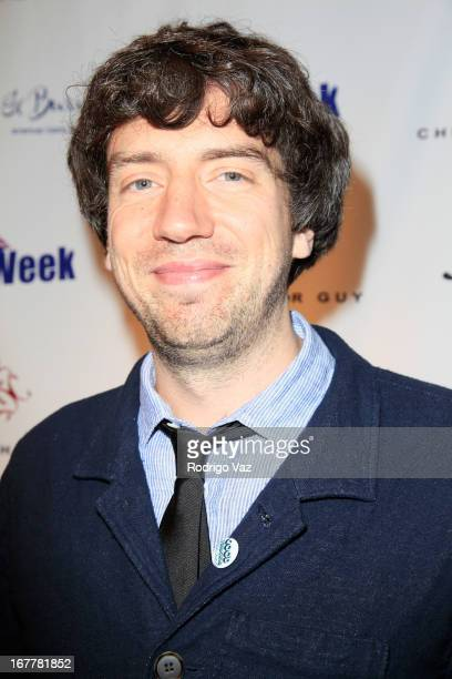 Recording artist Gary Lightbody arrives at the BritWeek Charity Urban Art Auction at Julien's Auctions Gallery on April 29 2013 in Beverly Hills...