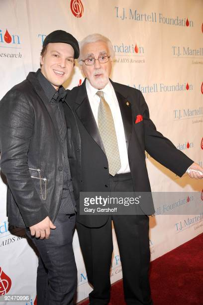 Recording artist Gavin DeGraw and founder Tony Martell attend the 34th Annual TJ Martell Foundation's Awards Gala at the Hilton Hotel on October 28...