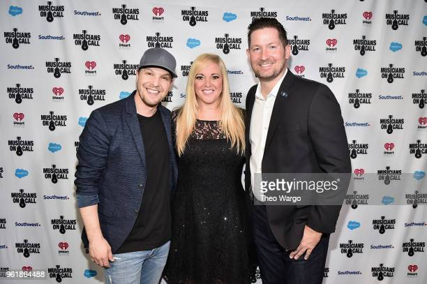 Recording artist Gavin DeGraw iHeartMedia's Executive Vice President and Head of Global Marketing Alissa Pollack and Musicians On Call President Pete...