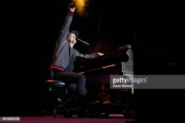 Recording artist Gavin DeGraw performs during the Spring Fling concert at the Red Rock Resort on March 17 2017 in Las Vegas Nevada