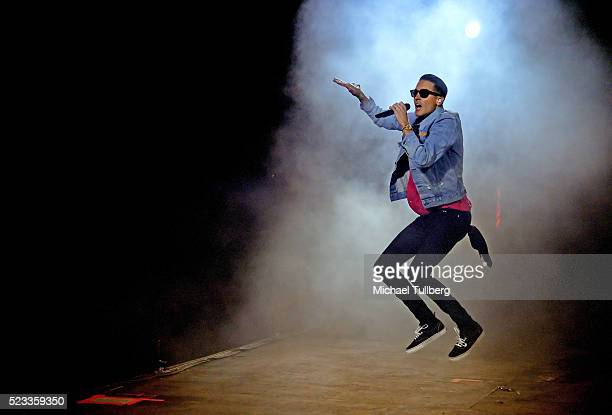 Recording artist GEazy performs onstage during day 1 of the 2016 Coachella Valley Music Arts Festival Weekend 2 at the Empire Polo Club on April 22...