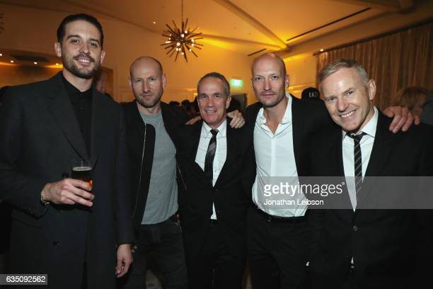 Recording artist GEazy producer Tor Erik Hermansen chief operating officer of RCA Records Tom Corson producer Mikkel Storleer Eriksen and CEO of RCA...