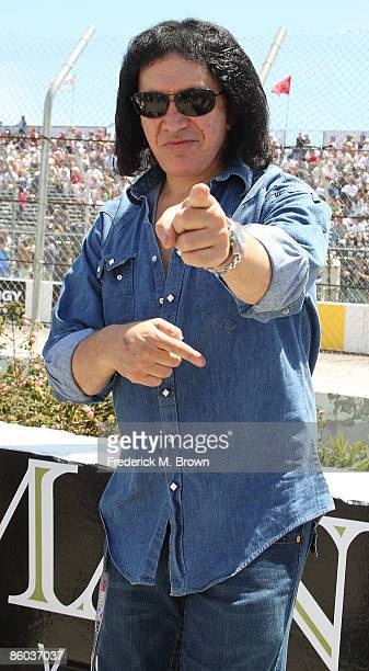 Recording artist Gene Simmons attends the 35th annual Toyota Grand Prix on April 19 2009 in Long Beach California