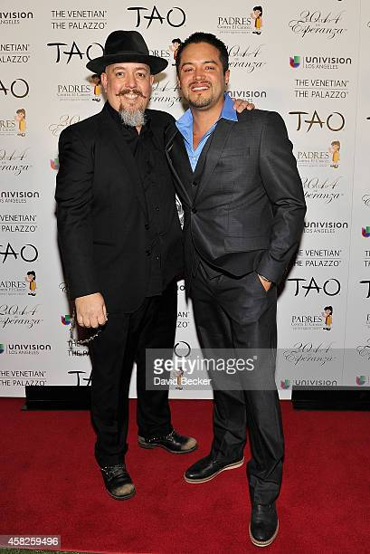Recording artist George Pajon Jr of The BlackEyed Peas and singer Andy Vargas arrive at the Padres Contra El Cancer's 14th annual El Sueno de...