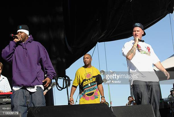 Recording artist Ghostface Killah the Rhythm Roots Allstars perform during the Vegoose Music Festival 2007 at Sam Boyd Stadium on October 28 2007 in...