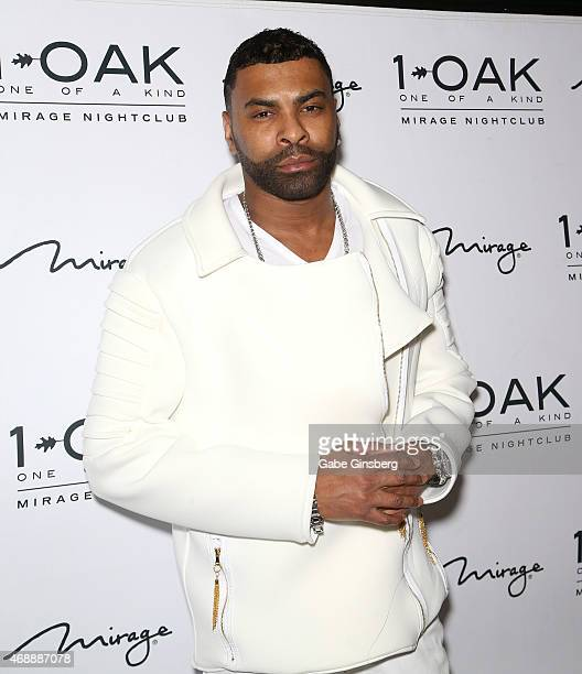 Recording artist Ginuwine arrives at 1 OAK Nightclub at The Mirage Hotel Casino on April 8 2015 in Las Vegas Nevada