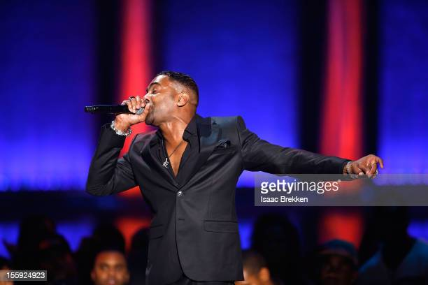 Recording artist Ginuwine of TGT performs performs during the Soul Train Awards 2012 at PH Live at Planet Hollywood Resort Casino on November 8 2012...