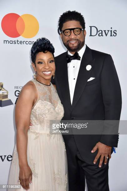 Recording artist Gladys Knight and entrepreneur William McDowell attend the Clive Davis and Recording Academy PreGRAMMY Gala and GRAMMY Salute to...