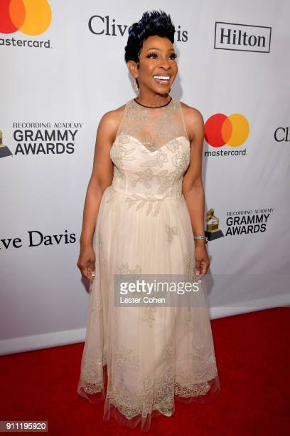 Recording artist Gladys Knight attends the Clive Davis and Recording Academy PreGRAMMY Gala and GRAMMY Salute to Industry Icons Honoring JayZ on...