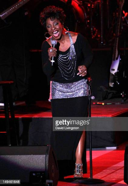 Recording artist Gladys Knight performs on stage at The Greek Theatre on July 28 2012 in Los Angeles California