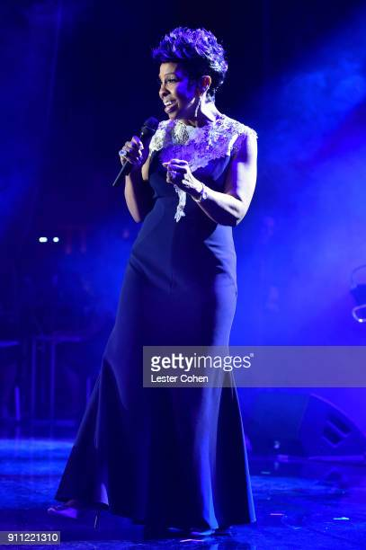 Recording artist Gladys Knight performs onstage at the Clive Davis and Recording Academy PreGRAMMY Gala and GRAMMY Salute to Industry Icons Honoring...
