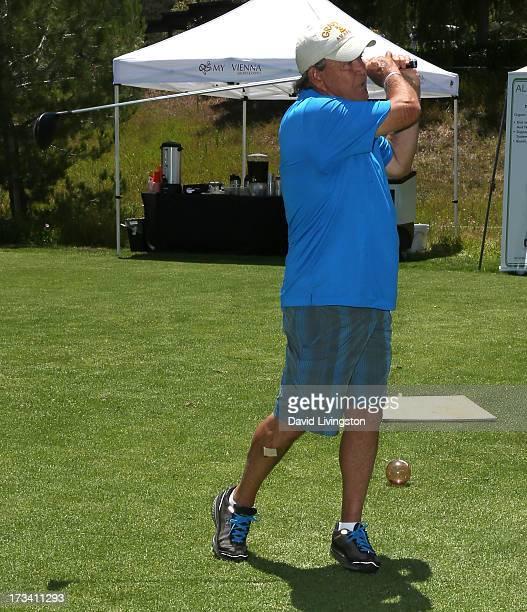 Recording artist Glen Campbell attends Women In Film's 16th Annual Malibu Celebrity Golf Classic on July 13 2013 in Malibu California