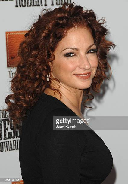 Recording artist Gloria Estefan arrives at the premiere of The Assassination Of Jesse James at the Ziegfeld Theater on September 18 2007 in New York...