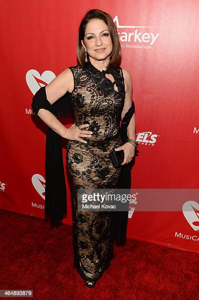 Recording artist Gloria Estefan attends 2014 MusiCares Person Of The Year Honoring Carole King at Los Angeles Convention Center on January 24 2014 in...