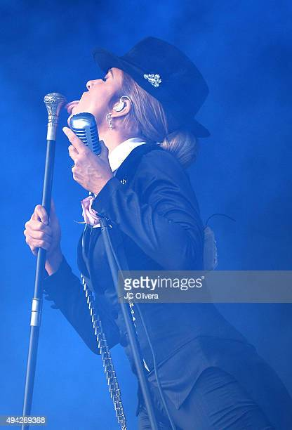 Recording Artist Gloria Trevi performs onstage during 'L Festival Feria Cultural Latinoamericana' at OC Fair and Event Center on October 25 2015 in...
