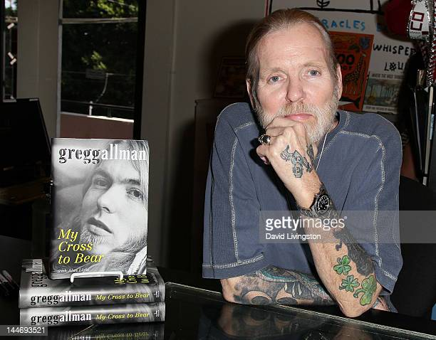 Recording artist Gregg Allman attends a signing for his book 'My Cross to Bear' at Book Soup on May 17 2012 in West Hollywood California