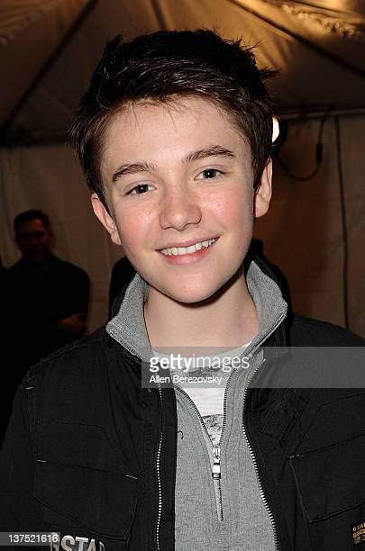 Recording artist Greyson Chance poses backstage at the SchoolJam USA Live competition at Downtown Disney District at Disneyland Resort on January 21...