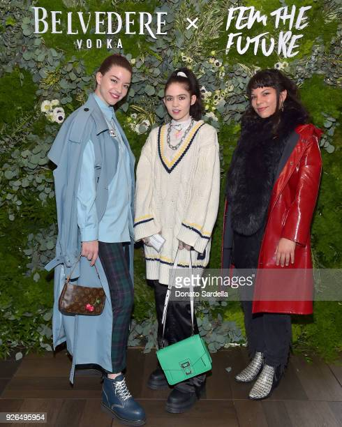 Recording Artist Grimes and guests attend as Janelle Monae and Belvedere Vodka kickoff A Beautiful Future Campaign with Fem the Future Brunch at...