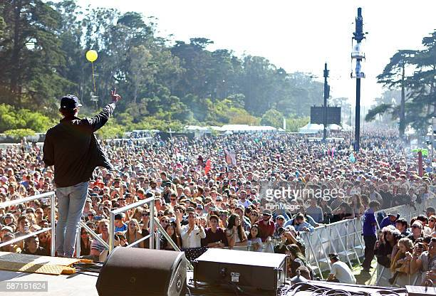 Recording artist GRiZ performs on the Twin Peaks Stage during the 2016 Outside Lands Music And Arts Festival at Golden Gate Park on August 7 2016 in...
