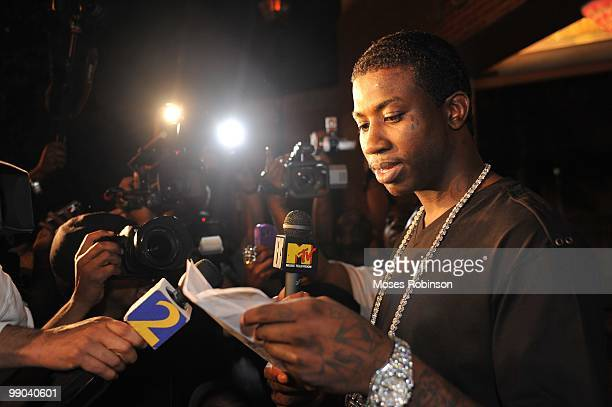 Recording artist Gucci Mane holds a press conference to announce his plans for the future and address issues that arose while he was incarcerated on...