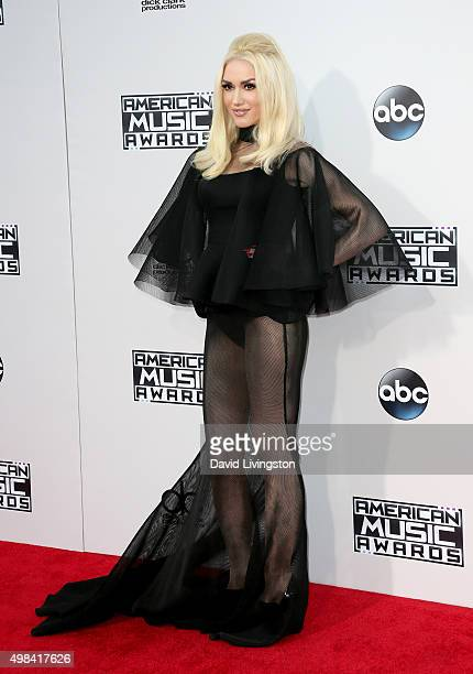 Recording artist Gwen Stefani arrives at the 2015 American Music Awards at Microsoft Theater on November 22 2015 in Los Angeles California