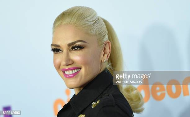 Recording artist Gwen Stefani arrives for the 30th Annual Nickelodeon Kids' Choice Awards March 11 2017 at the Galen Center on the University of...