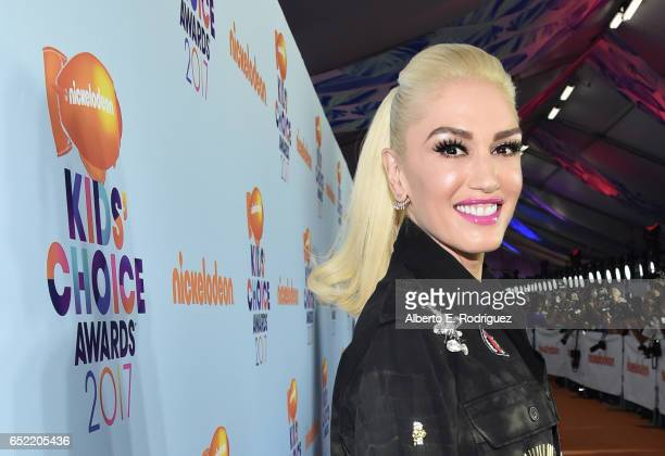 Recording artist Gwen Stefani at Nickelodeon's 2017 Kids' Choice Awards at USC Galen Center on March 11 2017 in Los Angeles California
