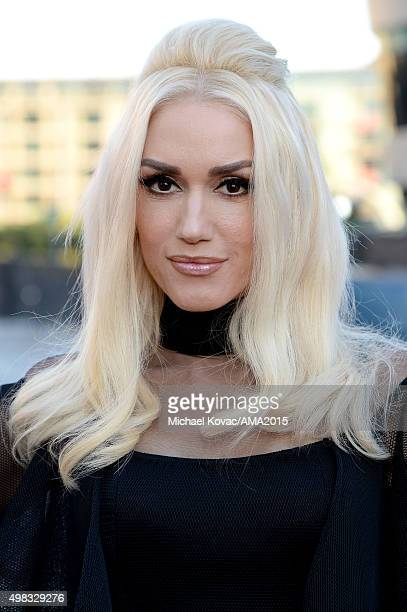 Recording artist Gwen Stefani attends the 2015 American Music Awards red carpet arrivals sponsored by FIAT 500X at LA Live on November 22 2015 in Los...