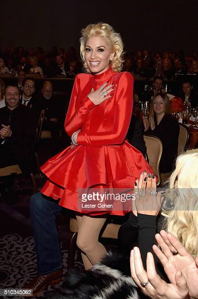 Recording artist Gwen Stefani attends the 2016 PreGRAMMY Gala and Salute to Industry Icons honoring Irving Azoff at The Beverly Hilton Hotel on...
