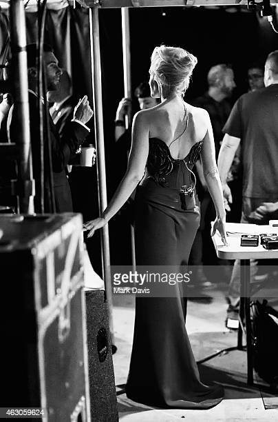 Recording artist Gwen Stefani backstage at The 57th Annual GRAMMY Awards at STAPLES Center on February 8 2015 in Los Angeles California