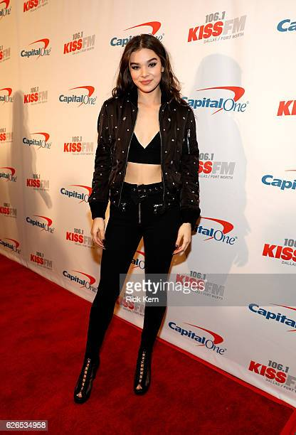 Recording artist Hailee Steinfeld attends 1061 KISS FM's Jingle Ball 2016 presented by Capital One at American Airlines Center on November 29 2016 in...